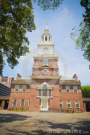 Independence Hall, Philadelphia, PA, USA Editorial Stock Image