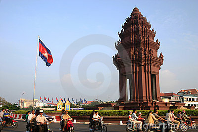 Independence Monument, Phnom Penh, Cambodia Editorial Photography