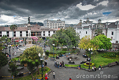 Independence Square in Quito Editorial Stock Image