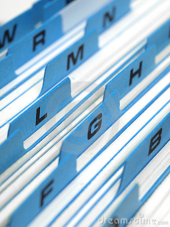 Index Card File System Stock Images - Image: 15307654