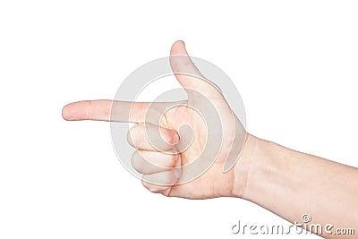 The index finger.