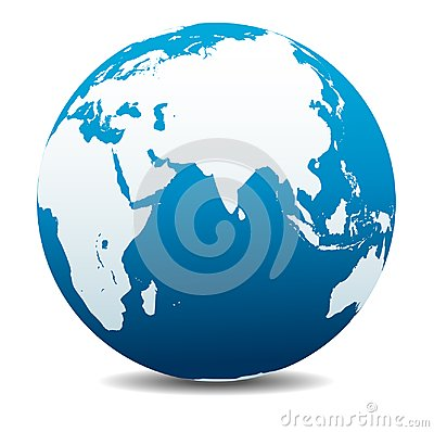 Free India, Africa, China, Indian Ocean, Global World Planet Earth Icon Royalty Free Stock Photos - 111096648