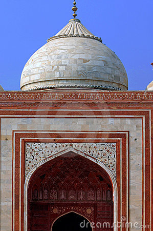 India, Agra: Taj Mahal mosque