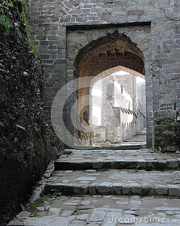 India Architecture Arched Door Kangra Fort