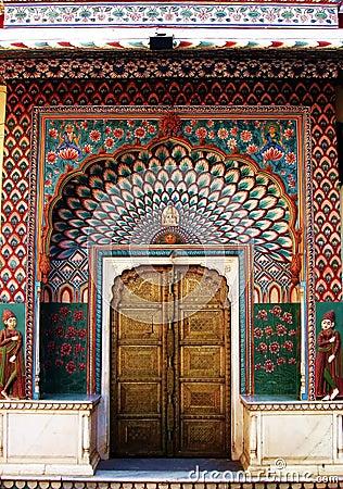 India Architecture Exterior Doorway