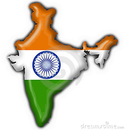 India Button Flag Map Shape Royalty Free Stock Photo - Image: 6160815