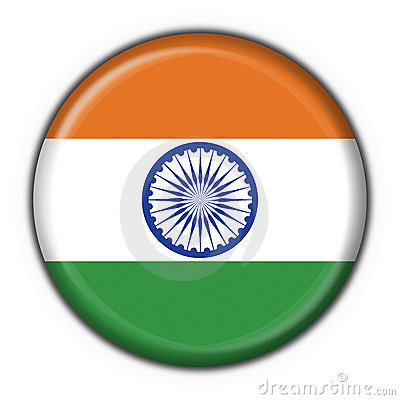 India button flag round shape