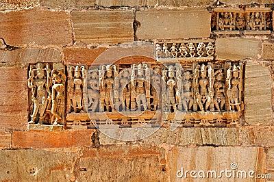 India; Chittorgarh: detail of the citadel
