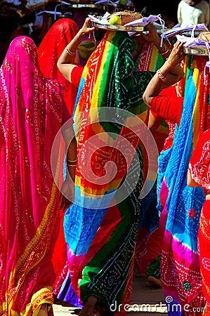 India, Chittorgarh: Jain ceremony