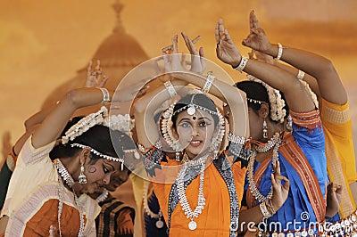 India dancers Editorial Stock Image