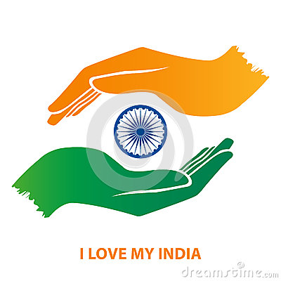 Free India Flag Hand Gesture Royalty Free Stock Photos - 43451888