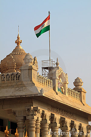 India Flag on vidhana soudha