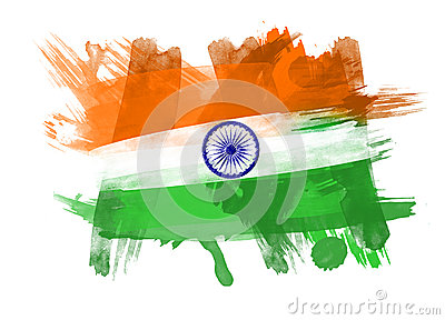 India Flag in White Background