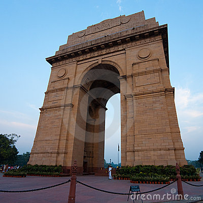India Gate Evening Blue Sky Horizontal