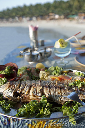 India - Goa - King Fish at Palolem beach