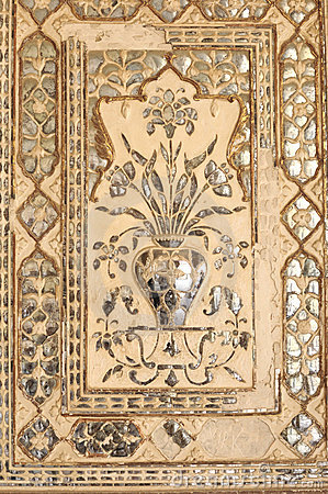 India Jaipur, fresco on a wall
