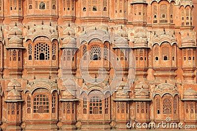 India Jaipur Hawa Mahal the palace of winds