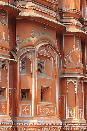 India Jaipur Hawa Mahal the palace of winds
