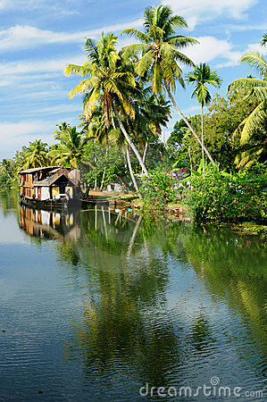 Free India - Kerala Canal Stock Photography - 12801512