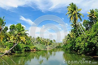India - Kerala canal