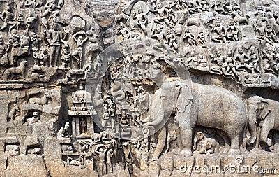 India - Mamallapuram - Arjunas Penance