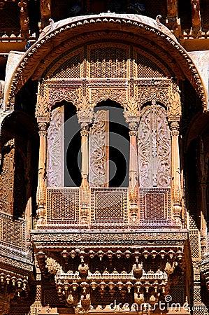 India, Rajasthan, Jaisalmer: Havali house