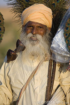 India, Rajasthan, Thar desert: Colourful turban Editorial Photo