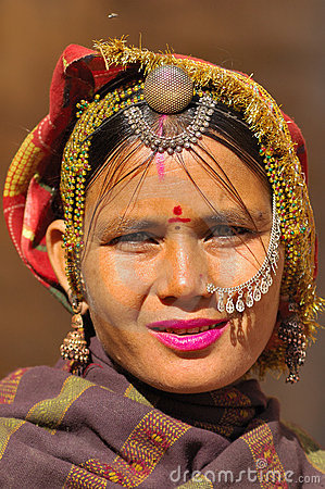 India, Rajasthan, Thar desert: Colourful woman Editorial Stock Photo