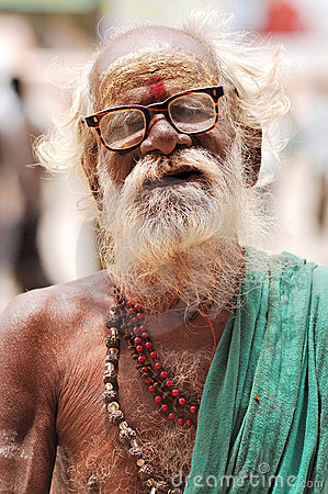 India, Rajasthan, Thar desert: Hindu priest Editorial Stock Image