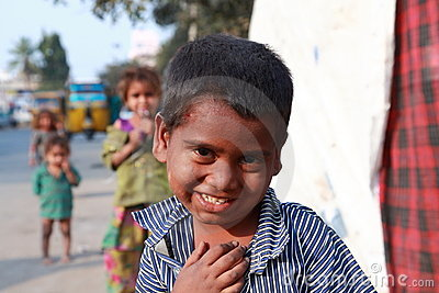 India s Children of Poverty Editorial Photography