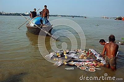 India s Clay Idols-Durga Festival Editorial Stock Photo