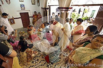 India s Clay Idols-Durga Festival Editorial Photography