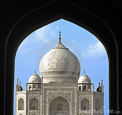 India,  Taj Mahal, seventh wonder of the world