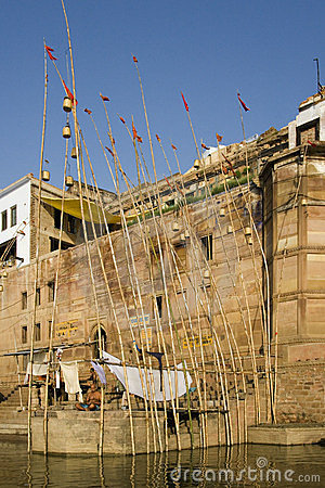 India - Varanasi - Hindu Ghats Editorial Stock Image