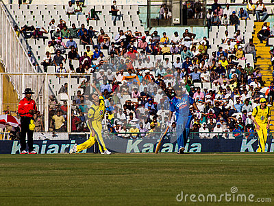 India versus Australia cricket Editorial Stock Photo