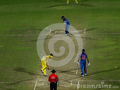 India versus Australia cricket Editorial Image