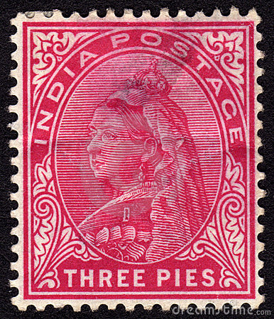 India Victorian Postage stamp