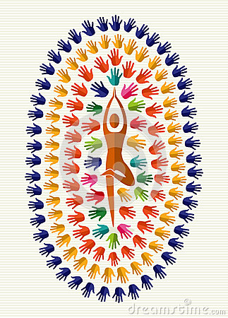 India yoga  hands