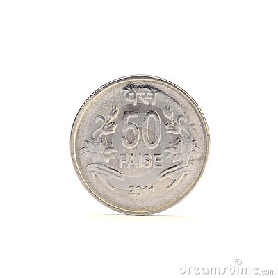 Free Indian 50 Paise Coin Royalty Free Stock Image - 34716536
