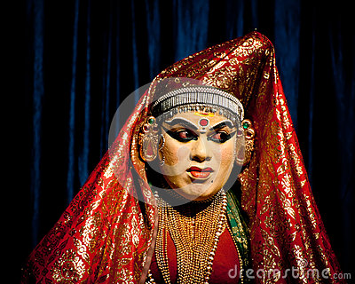 Indian actor performing tradititional Kathakali dance drama Editorial Stock Photo