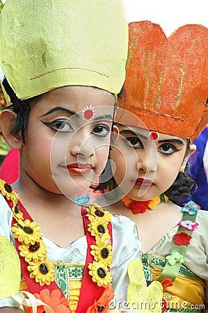 Indian Adolescents Dancer Editorial Image