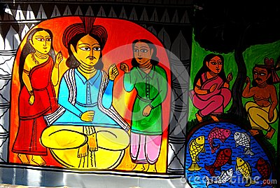 Indian Art During Durga Festival