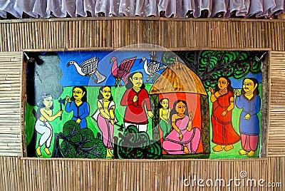 Indian Art During Durga Festival