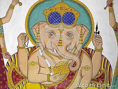 Indian Artwork - Hindu God Ganesha - Udaipur