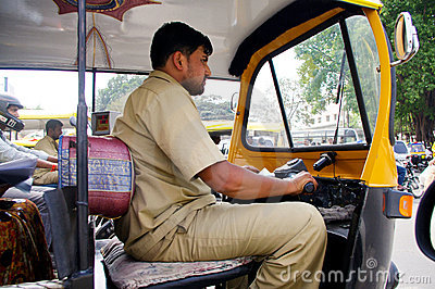 Indian Auto rickshaw driver Editorial Image