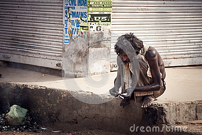 Indian Beggar Editorial Image