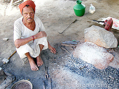 Indian blacksmith Editorial Stock Image