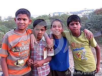 Indian Boys Editorial Photography