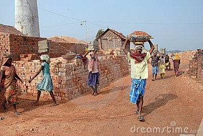 Indian Brick field Editorial Image