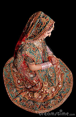 Indian bridal girl